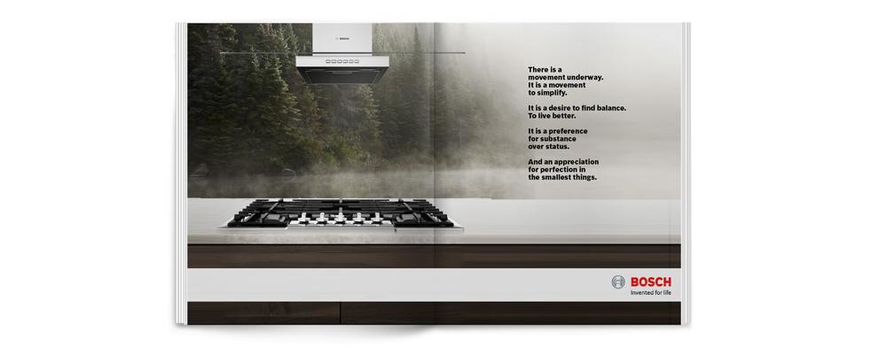 BOSCH | luxury home kitchen appliances | print, digital, advertising design