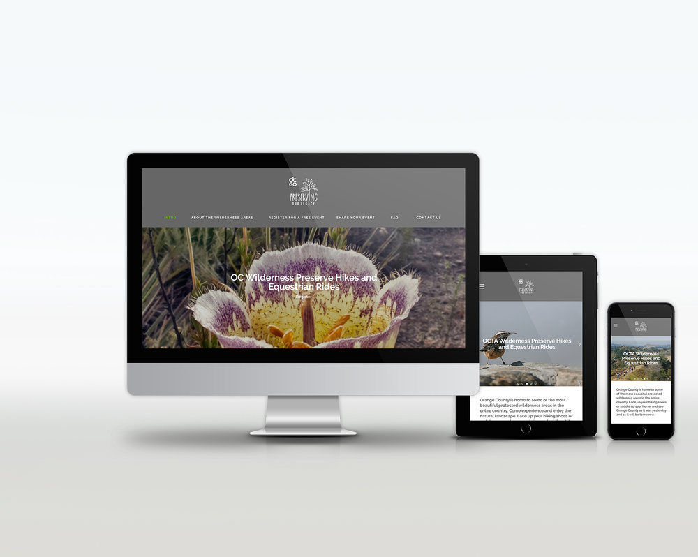 OC GO | protected lands and preserves in Orange County | brand, print, digital, website, web, microsite, social media design | nature, natural beauty
