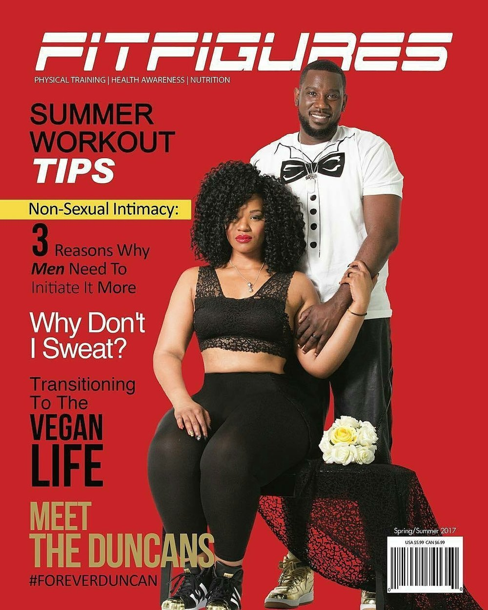 ForeverDuncan on the Cover of Fit Figures Magazine