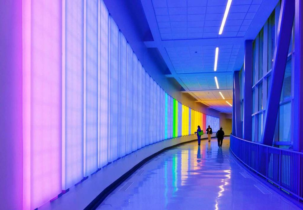 Ansen Seale (San Antonio),  You Activate This Space,  Interactive light and sound installation