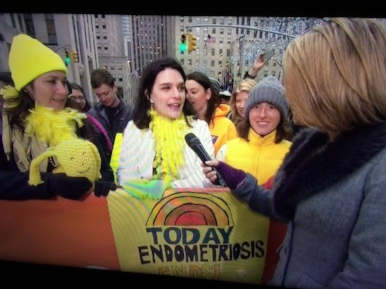 Being interviewed as a part of EFA and Worldwide EndoMarch on the Today Show. March 2015