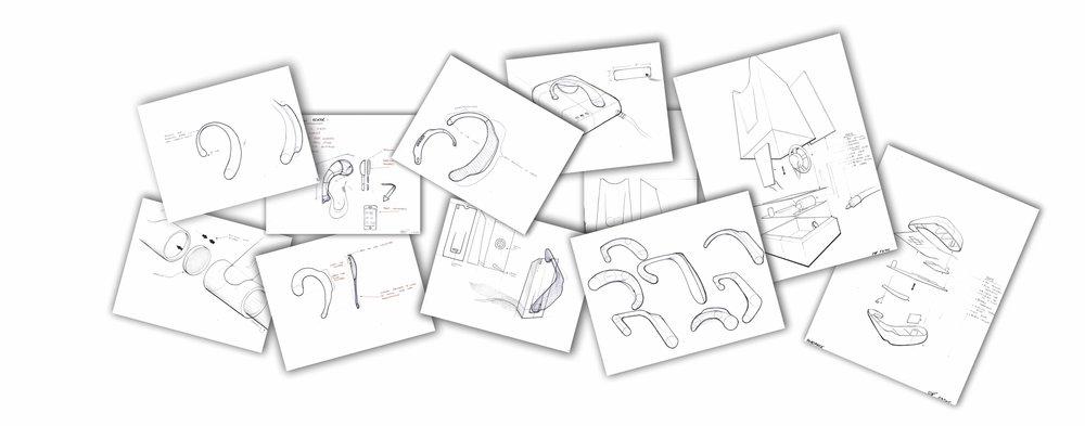 Concept sketch compilation