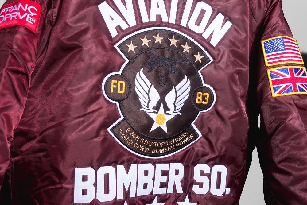 Burgundy Bomber Squad MA-1 Bomber