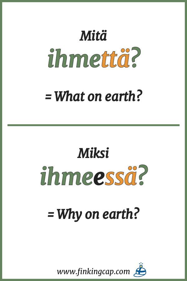 How to form questions in Finnish?