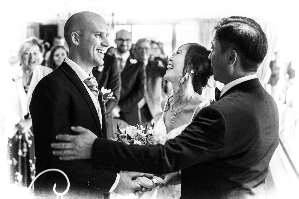 Wedding Photographer Nottingham - Bride Celebrating