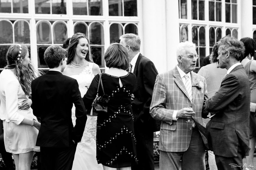 wedding guests in wollaton park