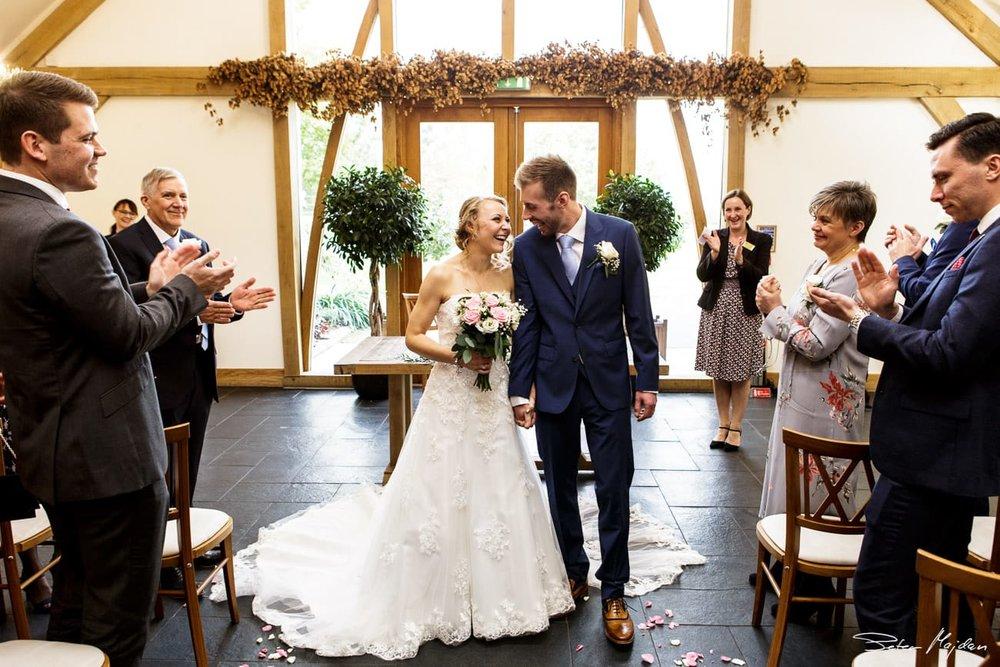 leaving ceremony in oak barn
