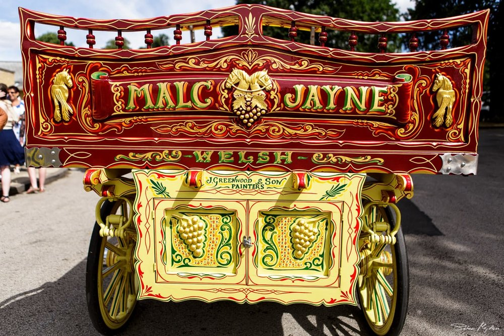colourful wedding carriage
