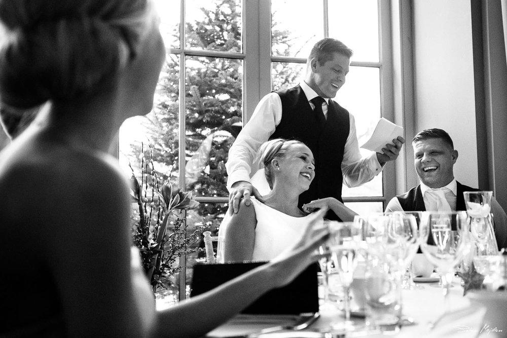 wedding speeches at Orangery
