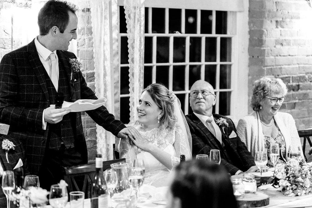groom making speech