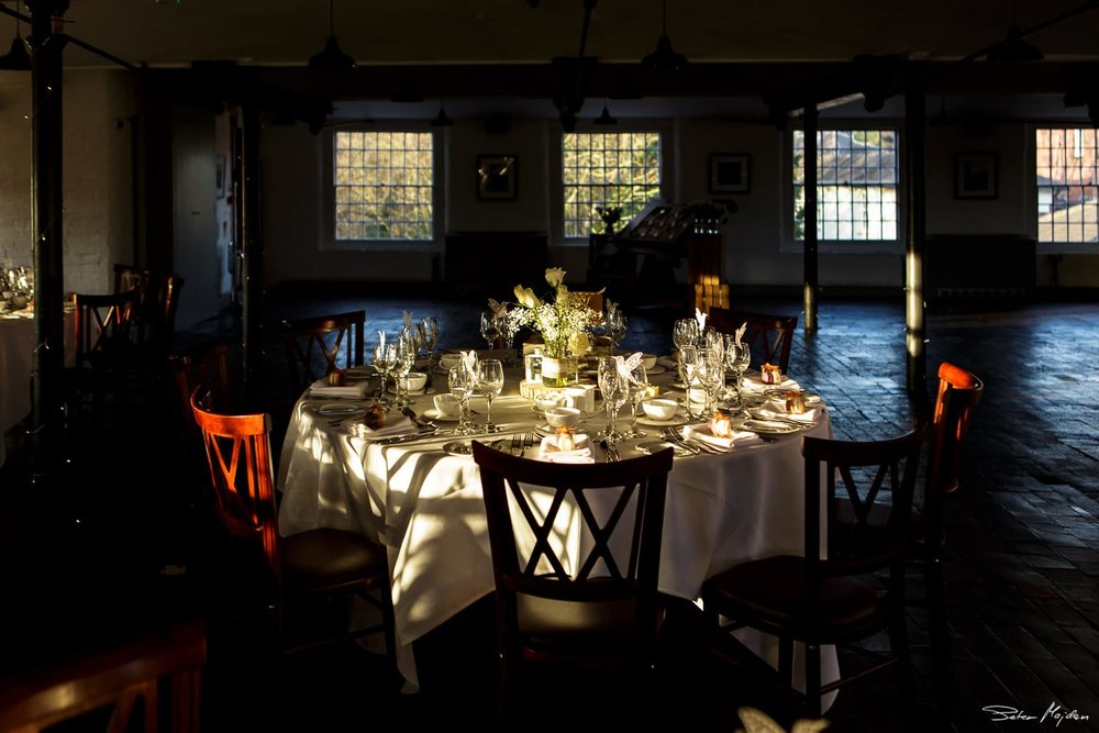 wedding table at Breakfast Room