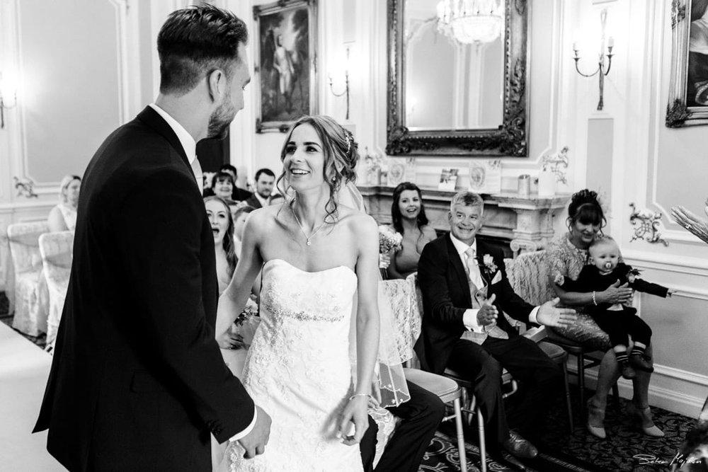 wedding ceremony ringwood hall