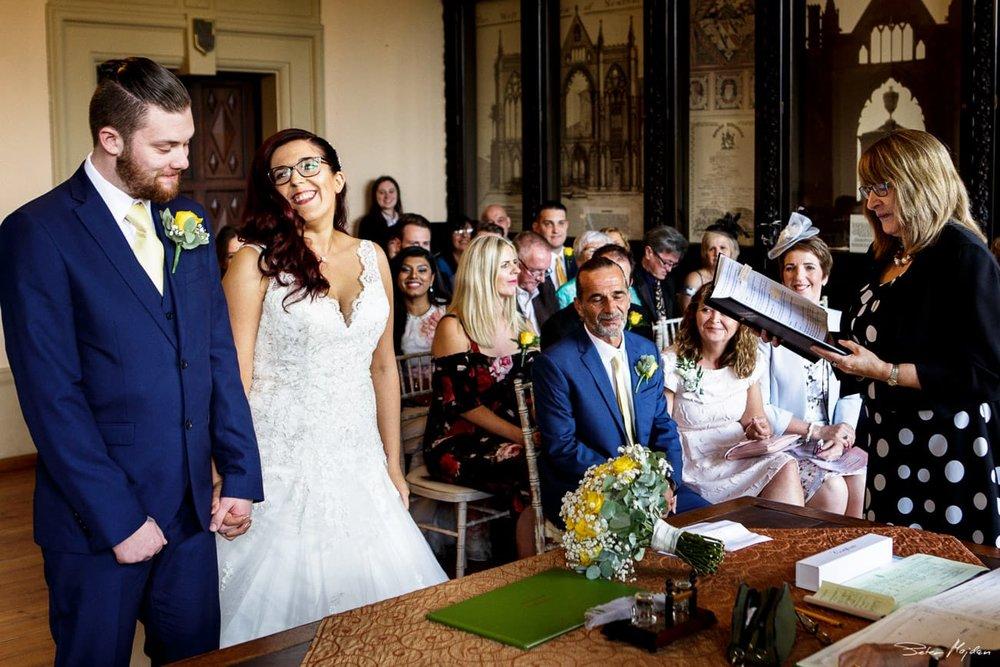 wedding ceremony at Newstead Abbey