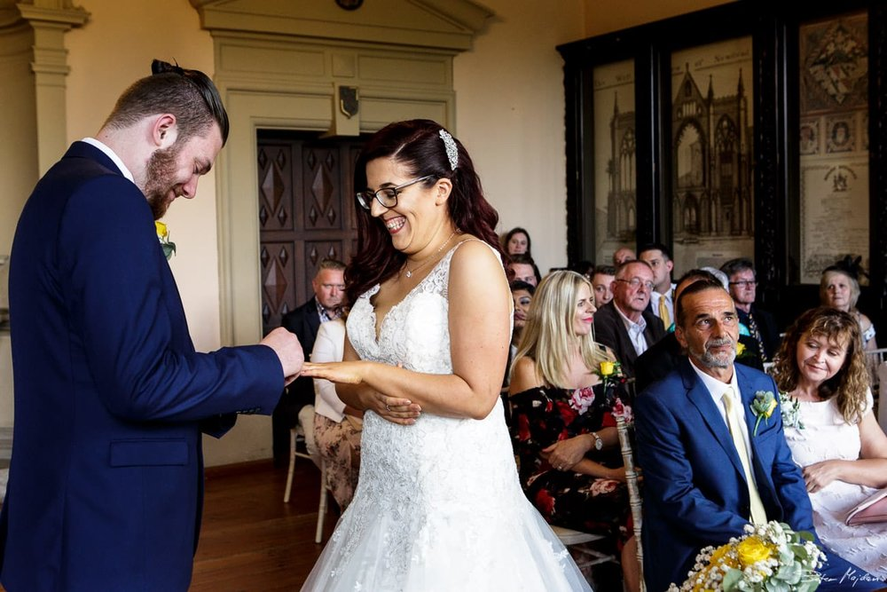 ring exchange at Newstead Abbey