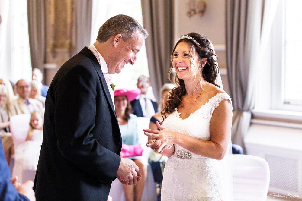wedding ceremony at Beaumont Estate