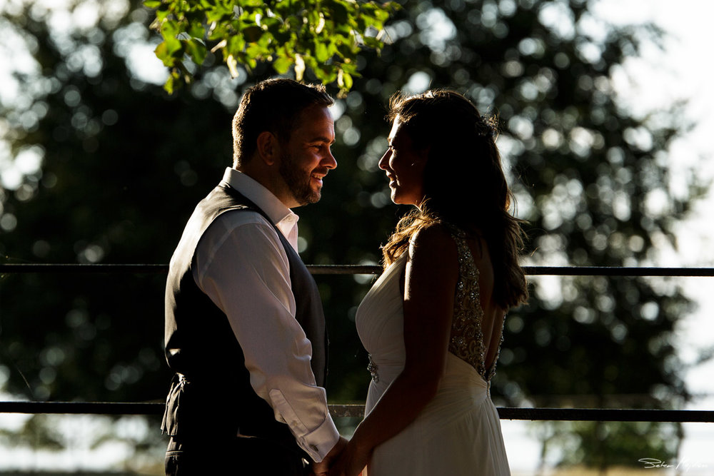natural portrait of bride and groom