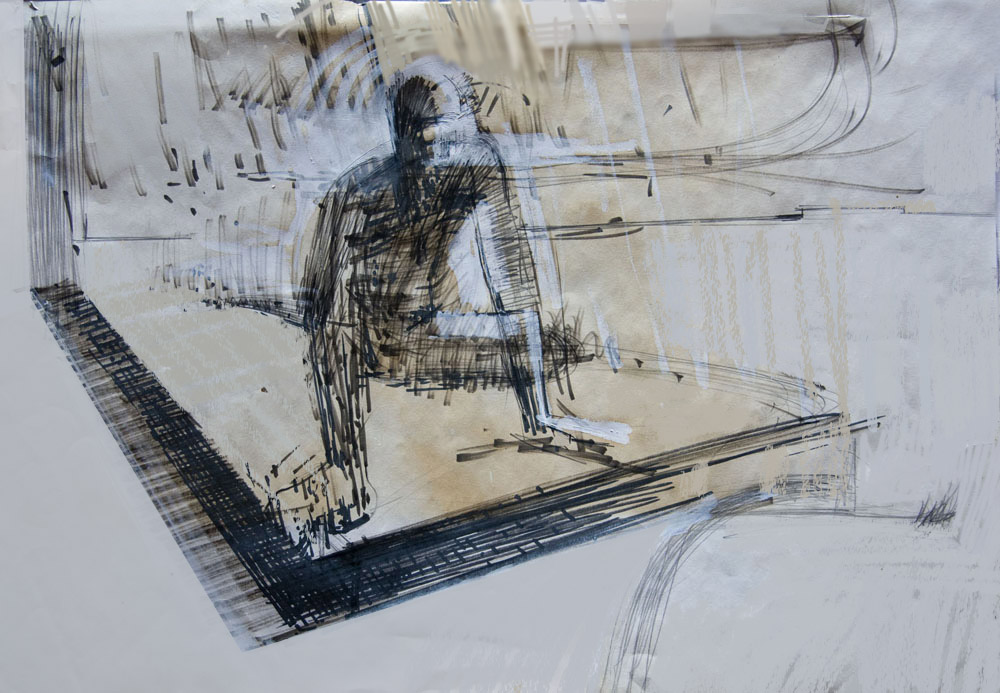 Charged Life Drawing - mixed media - 1990 51x69cm