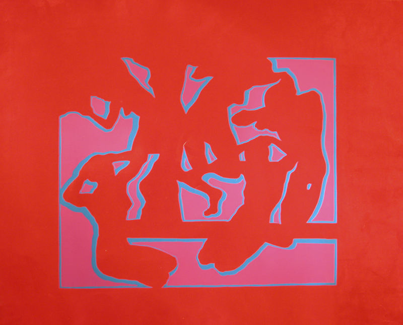 'Exploding Myth' - 51x66cm -1971 - screen print on red laquered paper