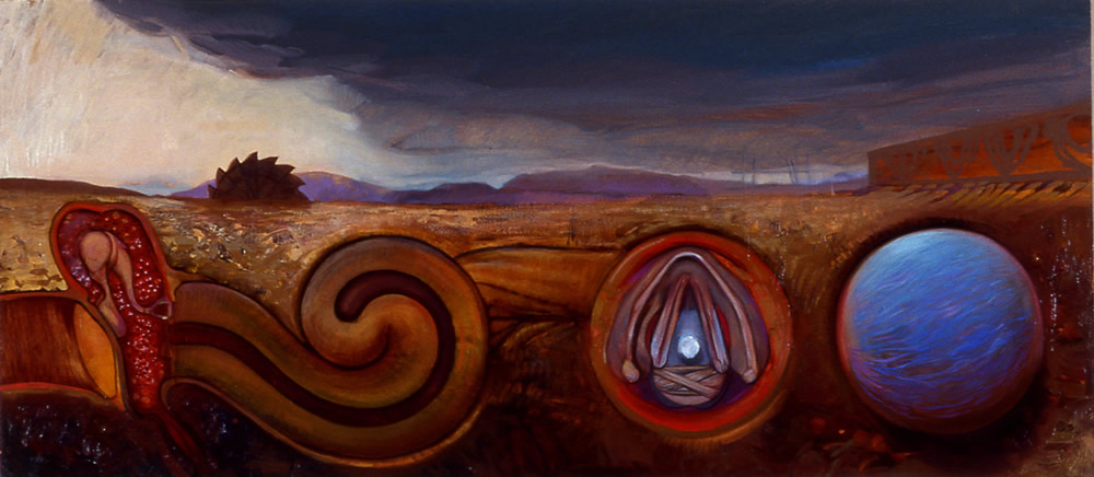 Inspiration and Phonation - 55x105cm - 1997