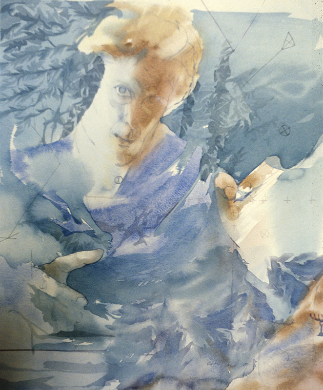 Myth of Plans - 72x60cm - 1976 - Watercolour