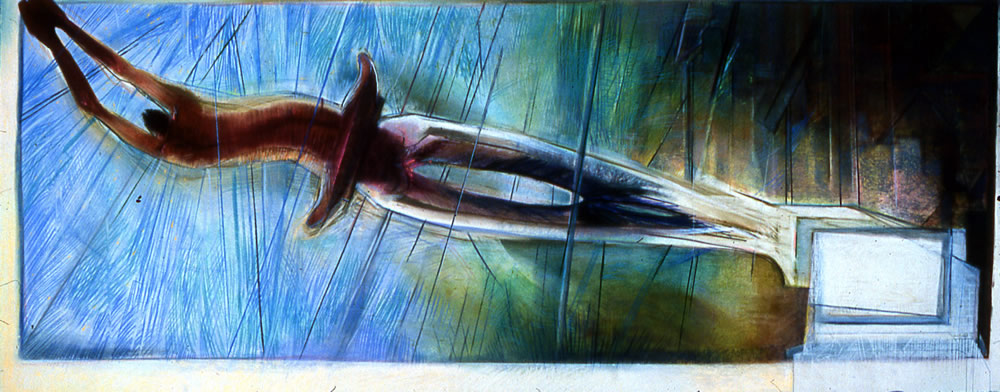 Study for Excalcutter - 100x200cm - 1987 - Pastel