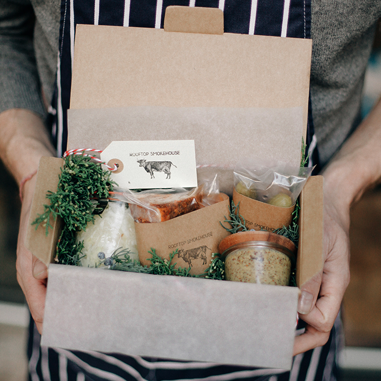 pastrami box for home delivery by Rooftop Smokehouse