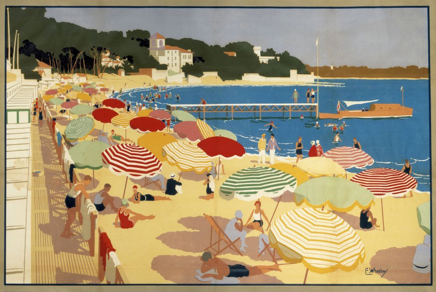 900_The Summertime French Riviera Southern Railway travel poster.jpg
