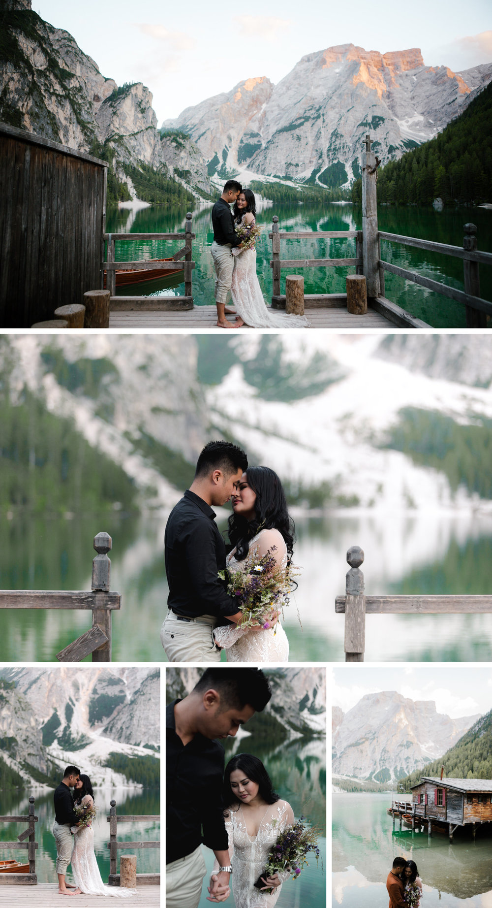 Lago di Braies Dolomites Wedding Shoot Fotomagoria 4.jpg
