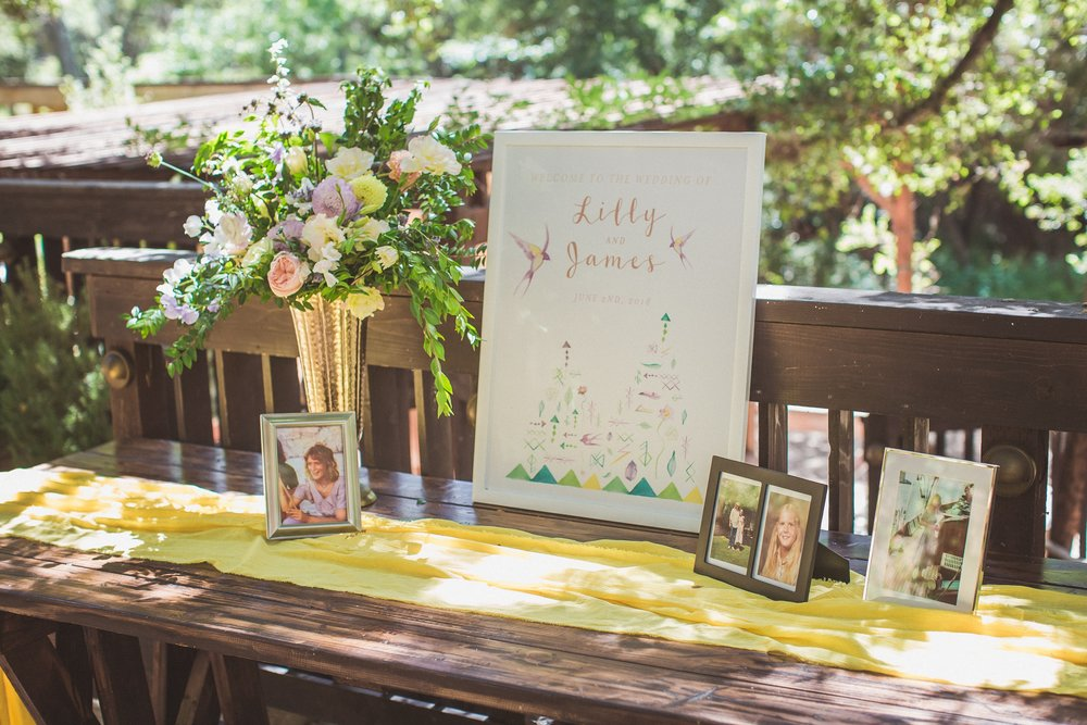 Lilly + James' Welcome Table