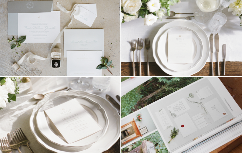 A small selection of Artcadia's stationery, designed for styled shoots