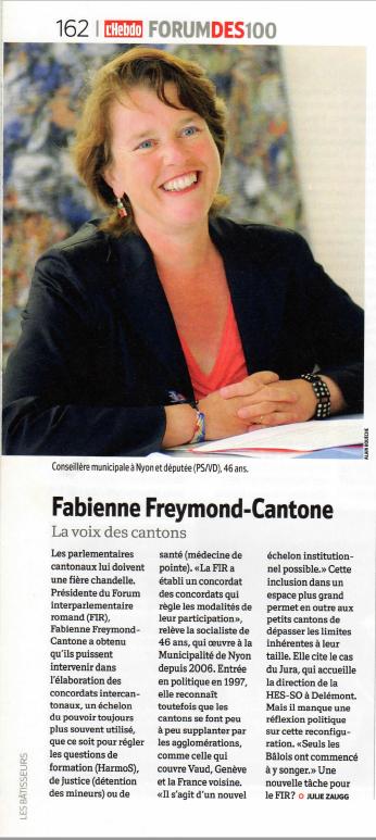2010-05-20 Edition du Forum des 100 -  La voix des cantons