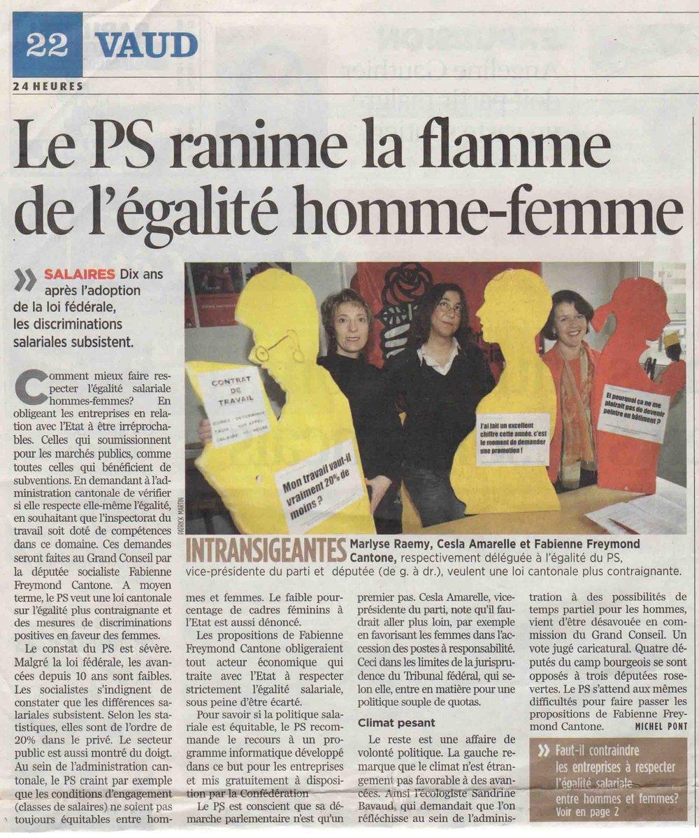 2006-12-08 24 Heures - Le PS et l'égalité homme-femme