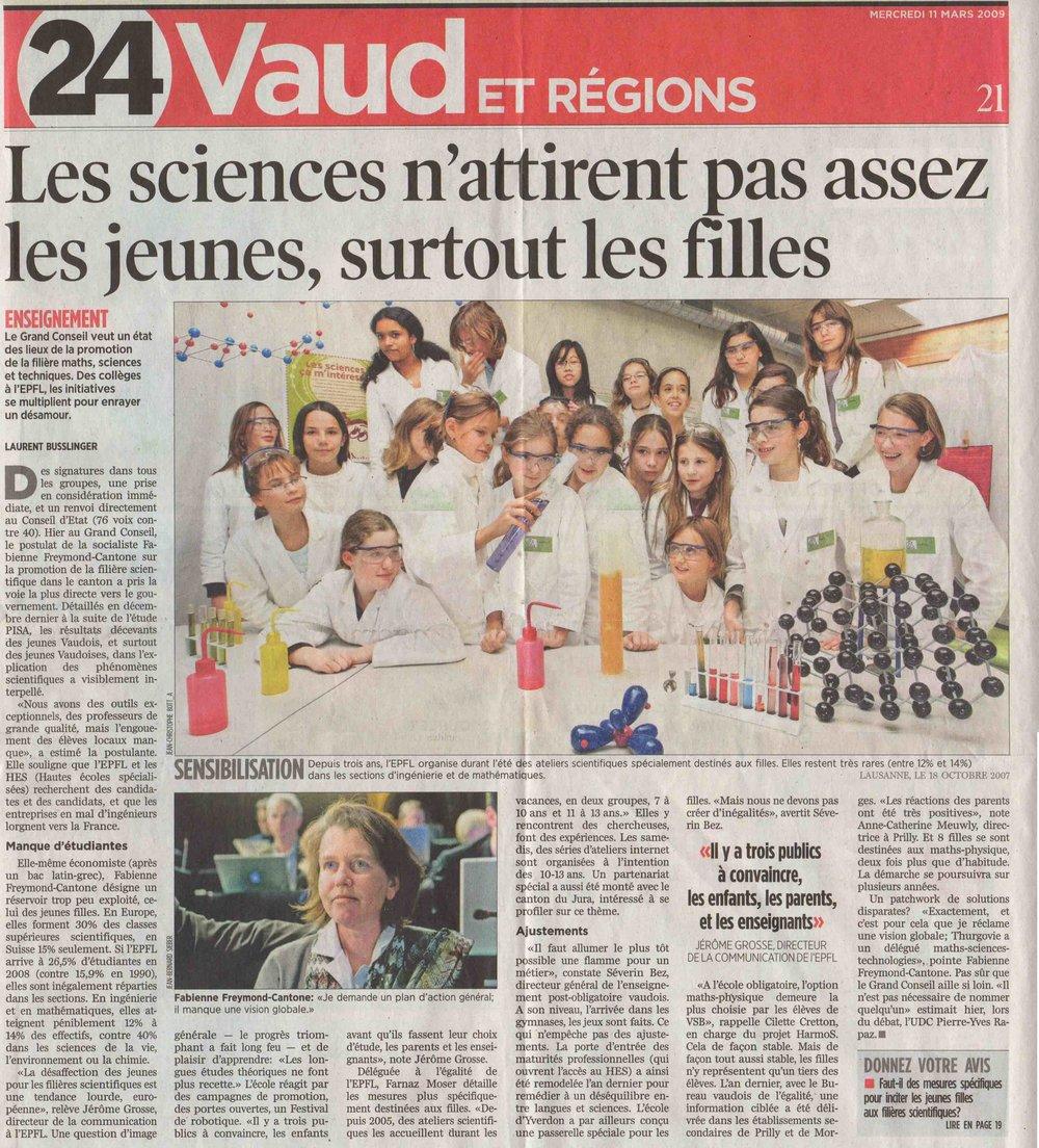 2009-03-11 24 Heures - Les sciences et les jeunes
