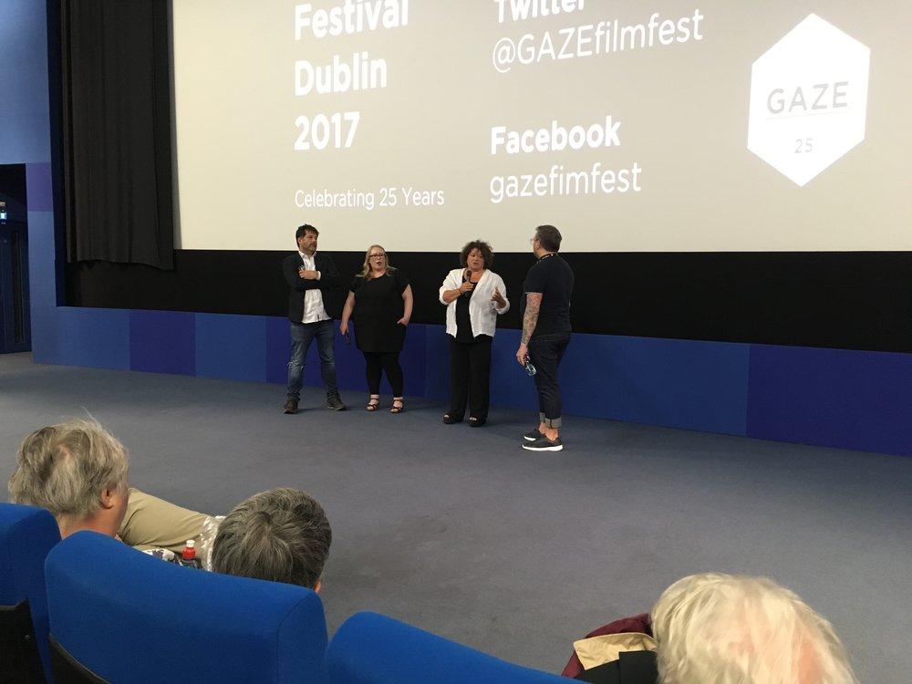 COCOtv's Linda Cullen with Vanessa Gildea and Cúán Mac Conghail at the 25th Annual GAZE International LGBT Film Festival