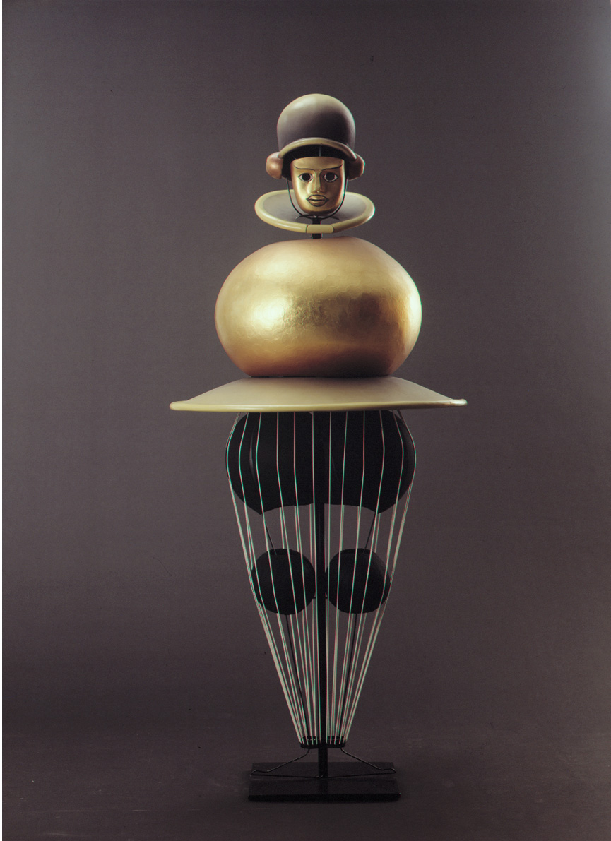 Model from the  Triadic Ballet , black sequence, 1920-22