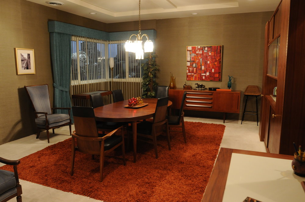 Don and Megan Draper's dining room at Park Avenue.