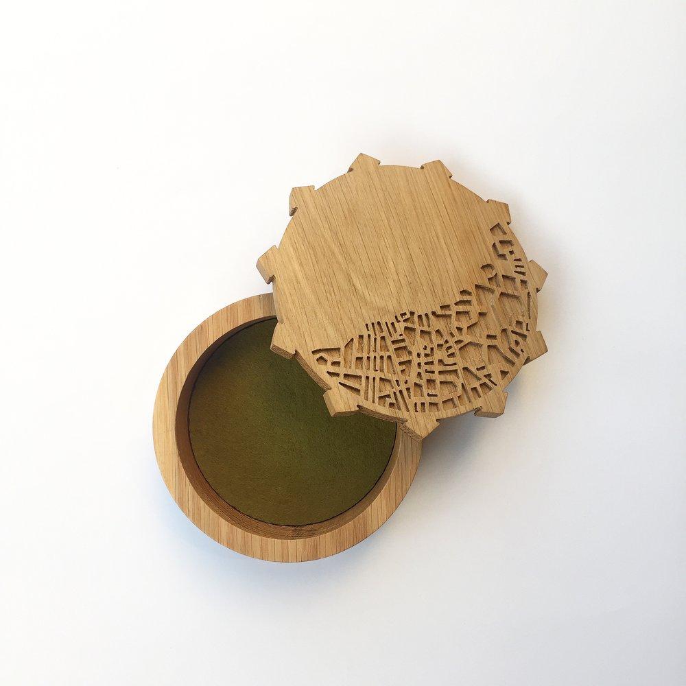 Nicosia map bowl by Constantinos Economides.