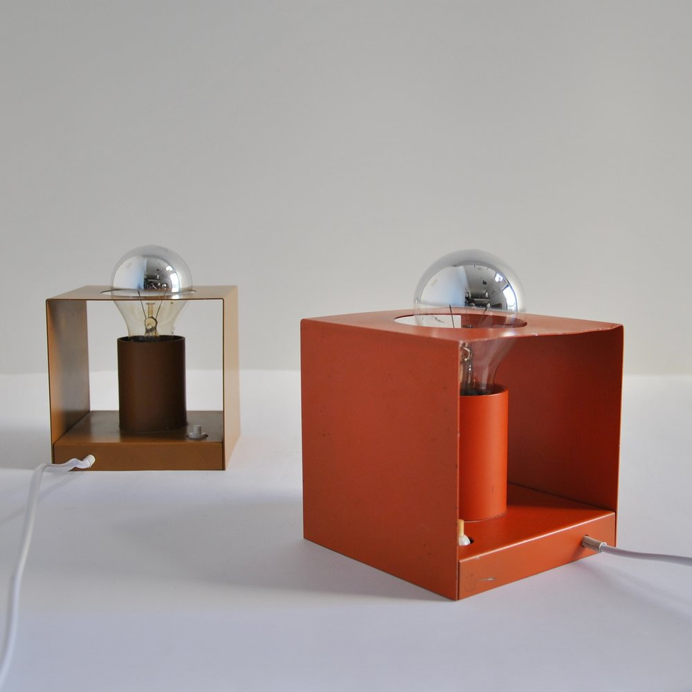 A selection of mid century and vintage lamps.