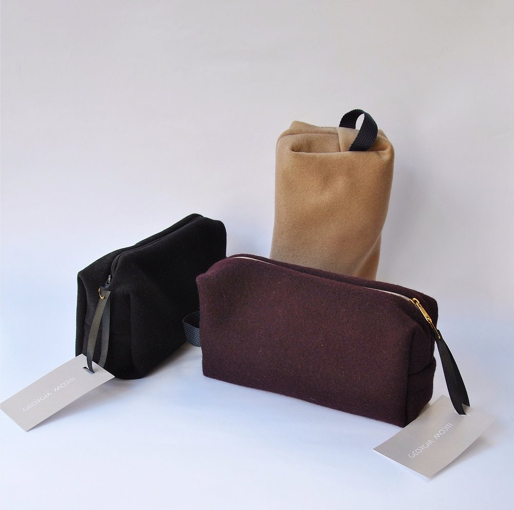 Felt purses and fanny packs by Georgia Moditi