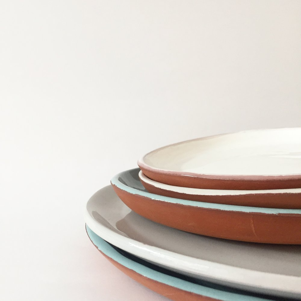 A selection of handmade stoneware by ceramicist Evdokia Savva.