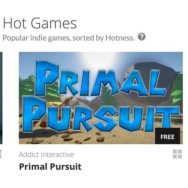 That Primal Pursuit's so hot right now! Play the single player mode now at GameJolt! #indie #game #videogames #student #project #racing #arcade #combat #cartoon