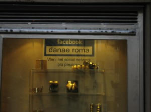 A jewellery boutique in Rome