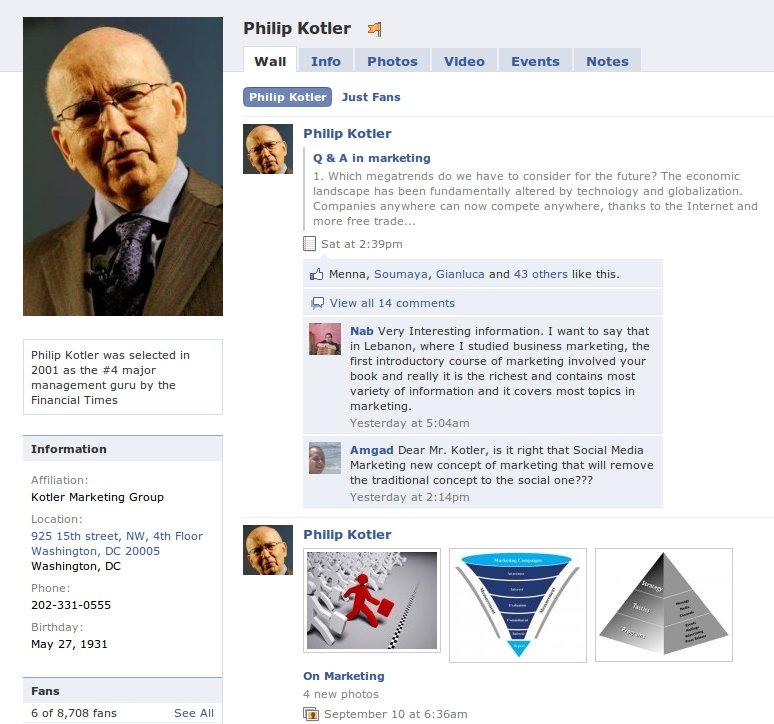 KotlerFacebookpage