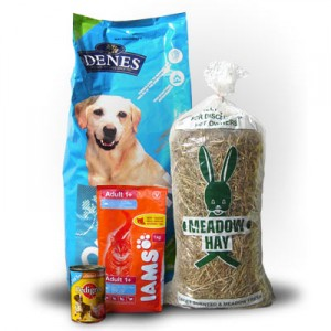Selection of pet food brands