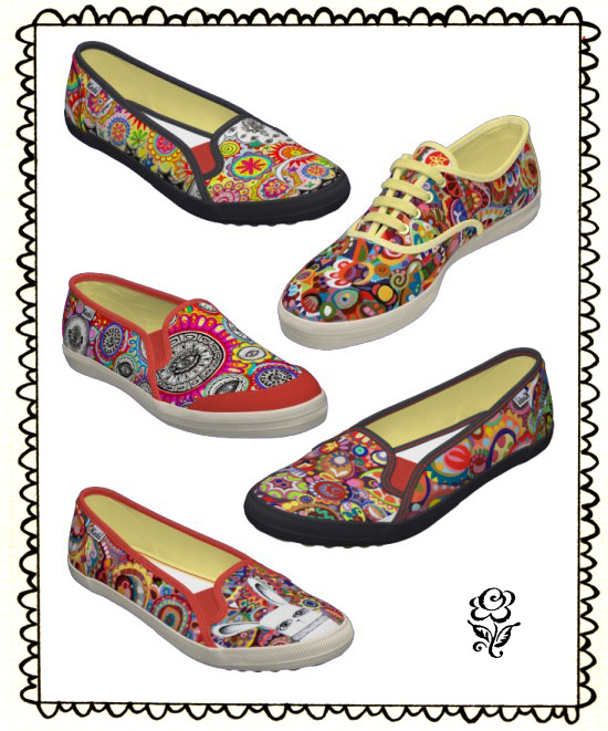 Shoes with Thaneeya's art