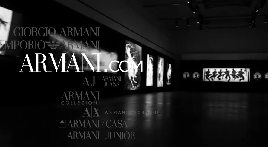 Armani dot com screenshot