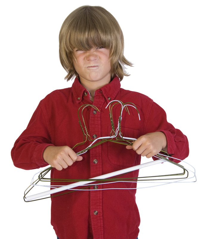 Jacob hates metal hangers