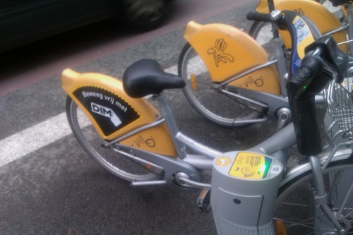 Villo bike in Brussels