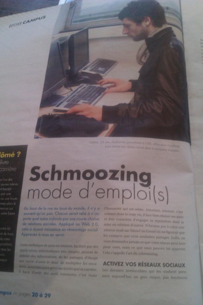 Schmoozing: mode d'emploi(s)