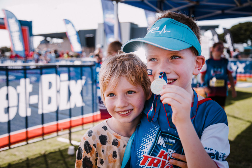 Competed in our first Weet-Bix kids 'Tryathalon'